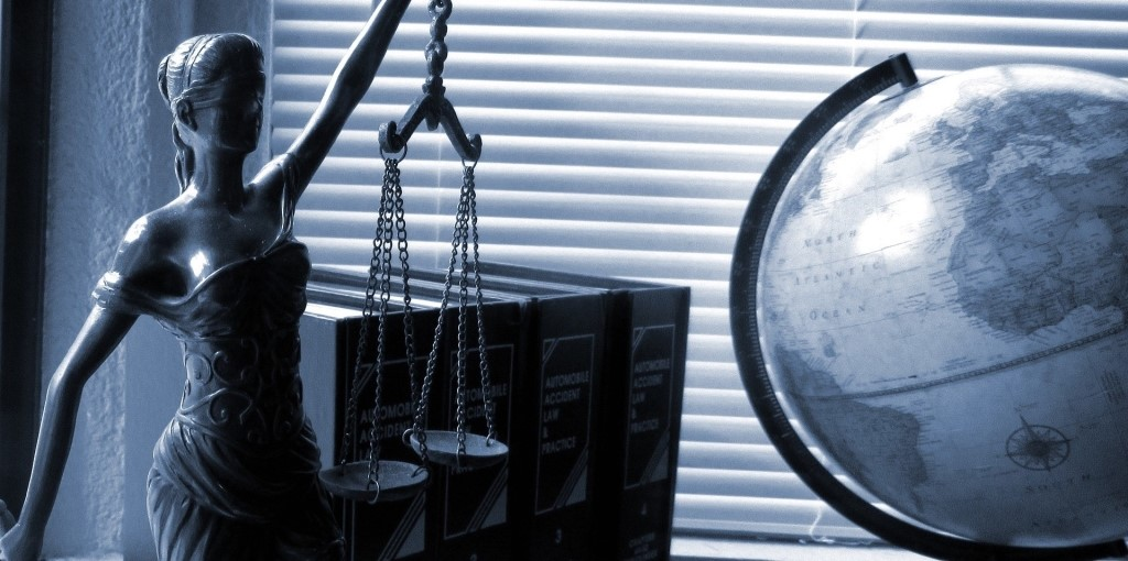 lady justice globe