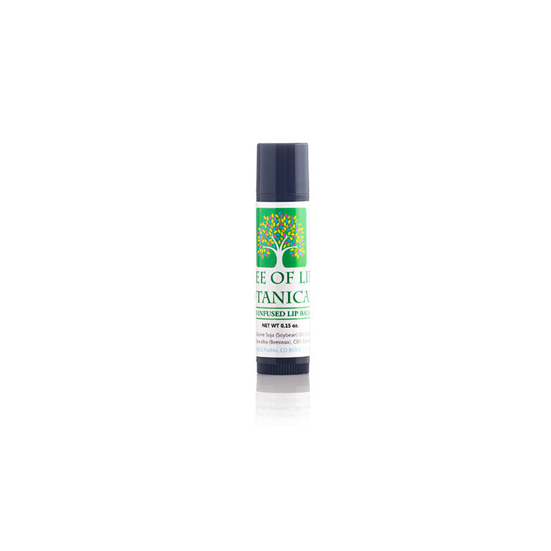 Tree of Life Botanicals CBD lip balm chapstick